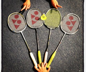 badminton and rackets image