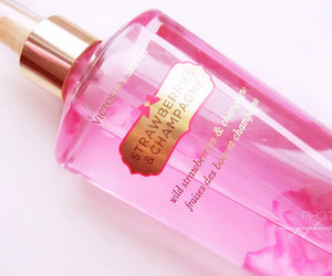 pink, Victoria's Secret, and strawberry image