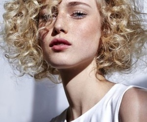 curly, girl, and blonde image