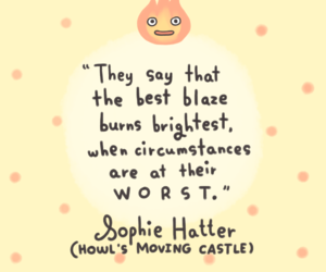 howl's moving castle, quotes, and sophie image