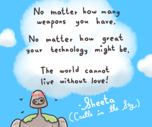 quotes, Castle in the Sky, and ghibli image