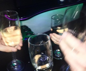 champagne, drink, and drunk image