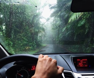 car, nature, and rain image