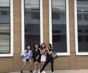 girls, happy, and squad image