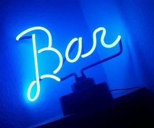 bar, blue, and light image