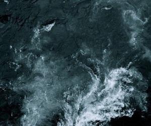 dark, nature, and ocean image