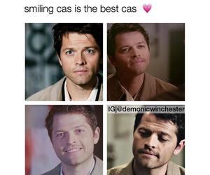 smile, supernatural, and castiel image