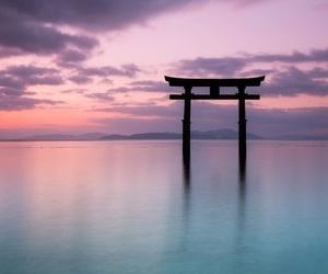 japan, landscape, and ocean image