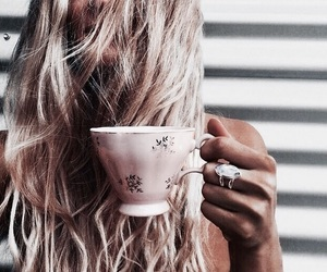 cup, girl, and indie image