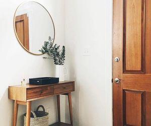 entrance, wood, and hallway image