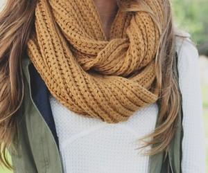 fashion, mellow yellow, and autumn scarf image