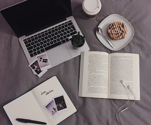 book, coffee, and moment image
