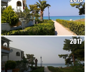 beach, Greece, and photography image