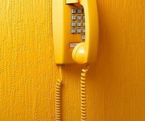 yellow, phone, and aesthetic image