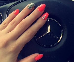 mercedes, neonpink, and nails image