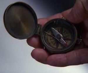 compass and hand image