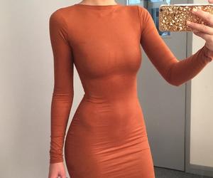 dress, fashion, and orange image