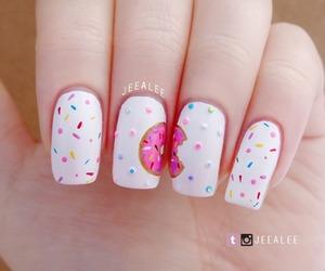 donut, food, and nail art image