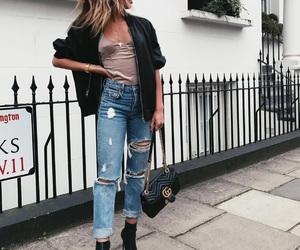 chic, fashion, and denim image