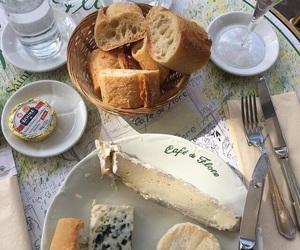 food, breakfast, and cheese image