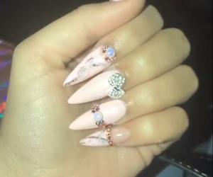 acrylic, fake nails, and beauty image