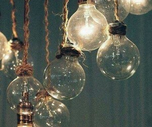 aesthetic, blue, and light bulbs image