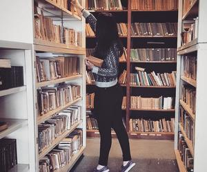 books and girl image