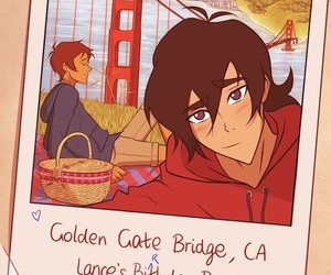 art, blue, and keith image