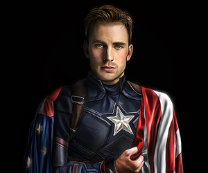 art, captain america, and chris evans image