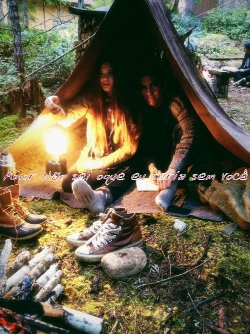 couple, hippie, and camping image