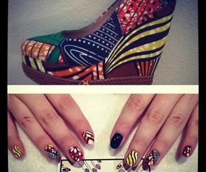 colorful, nail art, and tribal image