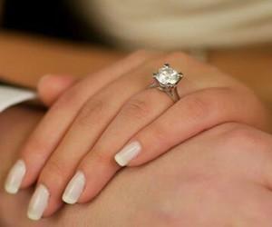 diamond, girl, and nails image