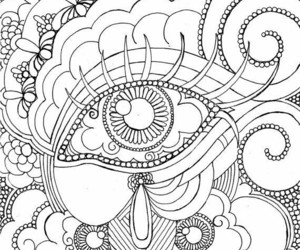 eyes, paint, and mandalas image