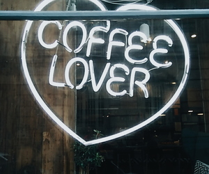 coffee, lover, and neon image