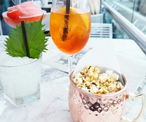 drinks, luxury, and popcorn image