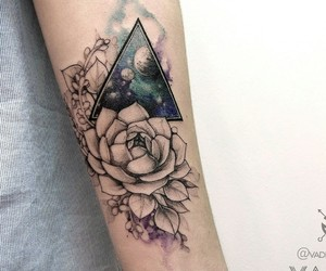 artwork, flower, and tattooart image