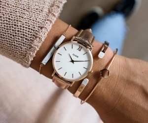 fashion, girl, and cluse watch image