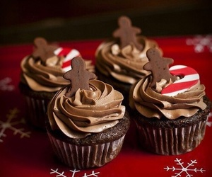 candy cane, cupcakes, and christmas treats image