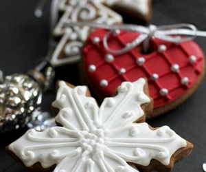 christmas, Cookies, and hearts image
