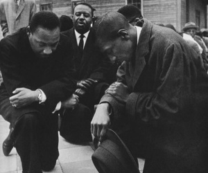 black&white, humain, and martin luther king image