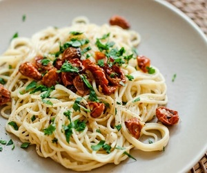 food, italian, and noodles image