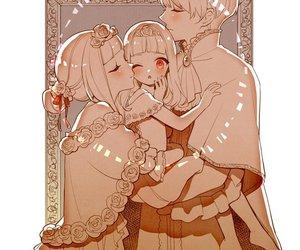 anime, couple, and sleeping beauty image