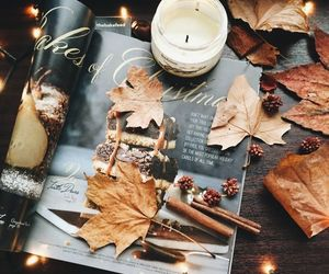 autumn, fall, and candle image