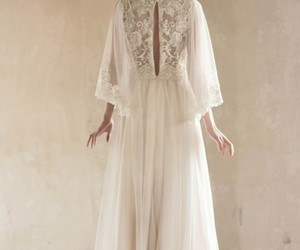 long dress, vintage, and wedding dress image