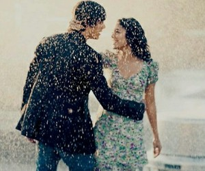 couple, dance, and rain image
