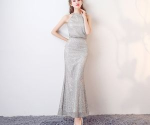 evening dress, girls, and 2017 image