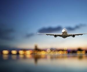 aesthetics, airplanes, and night image