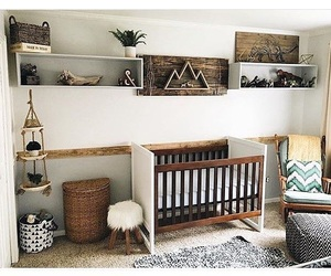bedroom, child, and crib image
