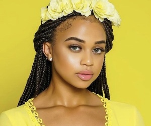 yellow, black, and girl image
