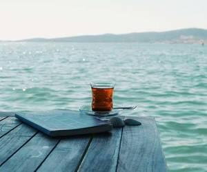 blue, ocean, and tea image